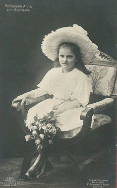 Sweet Princess Anna of Saxony with flowers