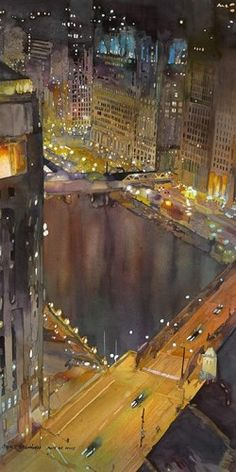 Chicago River - by John Salminen