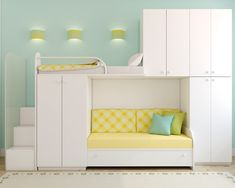 Decorate your room in a new style with murphy bed plans Cool Kids Bedrooms, Girls Bedroom, Kid Bedrooms, Cama Murphy Ikea, Modern Bunk Beds, Loft Beds, Murphy Bed Plans, Childrens Beds, Decorate Your Room