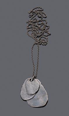 Bottega Veneta Men's Oxydized Silver Pendant