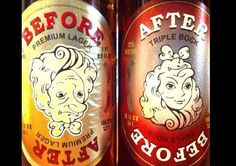 Funny Beer Names - Before and After
