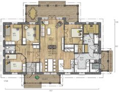 Bungalow, Future House, House Plans, Sweet Home, Floor Plans, Exterior, Flooring, How To Plan, Living Room
