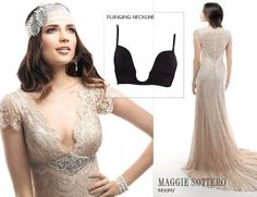Maggie Sottero has your guide on what to wear under your wedding dress! See more on Love, Maggie! Find the perfect undergarment to wear under this vintage lace wedding dress, Teresa.