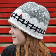 I love this knitted hat! #whimsical