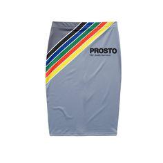 Spódnica VHS GREY Ołówkowa spódnica z lycry, na froncie grafika nawiązująca do stylistyki opakowań kaset VHS.