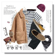 """Snuggle Up: Teddy Bear Coats"" by kryptonitesmile ❤ liked on Polyvore featuring J.Crew, H&M, TravelSmith, DA.D, Timex, Steve Madden, Folio, Forever 21, L.L.Bean and Kenny & Co."