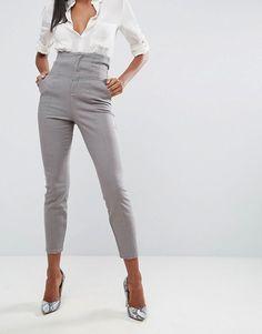 ASOS High Waist Corset Detail Cigarette Pants $51.00