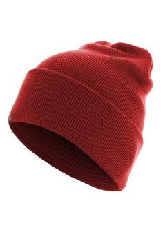Czapka Master Beanie Basic Flap Long Version red