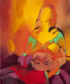 "Saatchi Online Artist: Amaya Salazar; Oil, 2011, Painting ""Mother and Child"""