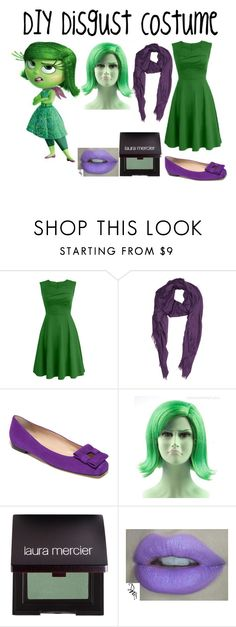 """DIY Disgust Costume (Inside Out)"" by alove1812 ❤ liked on Polyvore featuring Disney, Barneys New York, Oscar de la Renta, Laura Mercier and ItsHalloweenWithAubrey"