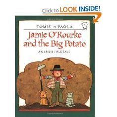 Jamie O'Rourke and the Big Potato dePaola Tomie Hardcover Used - Very Good Readers Theater, Thing 1, Mentor Texts, Free Activities, Teaching Activities, Teaching Ideas, Classroom Activities, Thinking Day, Day Book