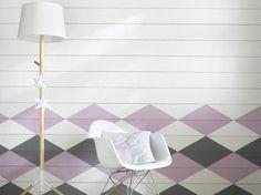 Un lambris graphique et pastel pile dans l'air du temps Style Deco, Inspiration, Pastel, House, Home Decor, Gabriel, Wall Cladding, Home Ideas, Haus
