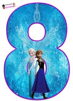 Frozen: Free Elsa and Ana Alphabet. Frozen: Bello Alfabeto Gratis de Elsa y Ana. Frozen Birthday Party, Frozen Tea Party, Frozen 1, Frozen Free, Sofia The First Birthday Party, Elsa Birthday, Disney Frozen Elsa, Frozen Cupcake Toppers, Frozen Cake Topper