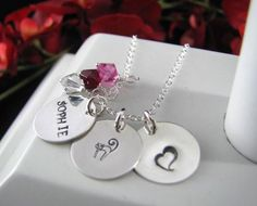 Sterling Silver Charms 3 Disc 5/8 Layer Hand by auctionprincess, $52.00