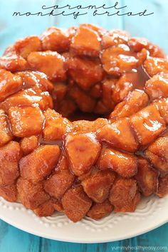 This Caramel Monkey Bread recipe is out of this world delicious! Only 5 simple ingredients to the most delectable, caramel breakfast treat - you NEED to make this!