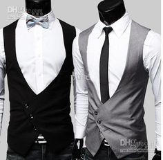 Waistcoat Styles Mens waistcoat. Unique asymmetric style which, for me, would show off my t-shirts more.