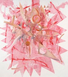 Charline Von Heyl, name: Pink Vendetta date: 2009,  dimension: 82 x 72 inches, (medium): Acrylic and oil on linen