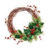 Рождественский венок — стоковое фото #86653632