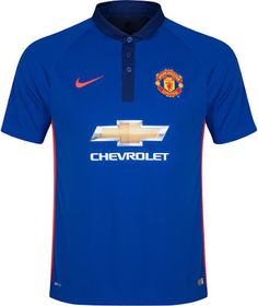 Manchester United FC 2014 15 Alternative 3rd Kit - Solid royal blue with  orange 2e4d404f0c5f8