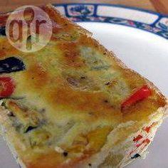 Photo recette : Terrine provençale à la courgette et au poivron