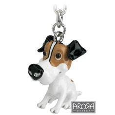 Little Paws Key Ring Jack Russell Terrier: Amazon.co.uk: Kitchen & Home