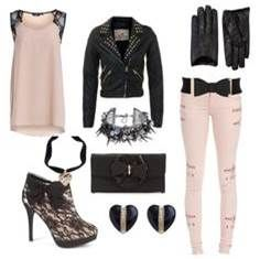 Girly rock pink and black.
