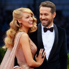 Love Blake Lively and Ryan Reynolds!!...Glamorous couple!!...❤️