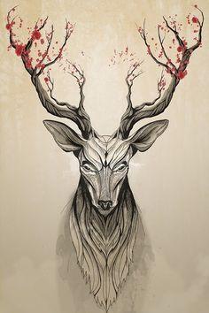 geometric animal tattoos - Google Search