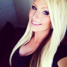 Blonde hair with brown underneath.