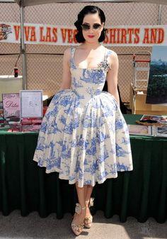 Dita Von Teese in #Vivienne Westwood vintage rococo dress