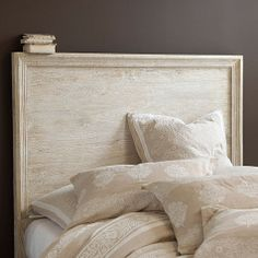 Picture Frame Headboard by Ballard Designs- could totally DIY this with some molding and whitewashed paint on plywood.