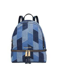 5f5cd7da81c4d Rhea Small Patchwork Denim Backpack Multi Blue