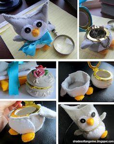 Cute stuffed owl = secret hiding box for treasures