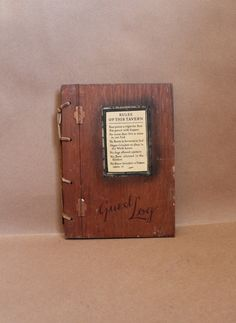 Vintage Home Decor- Vintage Party Decor- Guest Log 'Rules of This Tavern'.