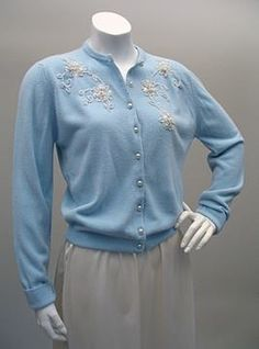 2afb1e2c591 I loved these Cashmere cardigans with their pretty little pearl buttons.  Sweater Outfits