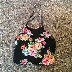 Floral halter top Purchased from Windsor. Never been worn  WINDSOR Tops Crop Tops