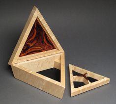Triangular Jewelry Box 'The Mini TriBox' Birdseye by watswood, $330.00