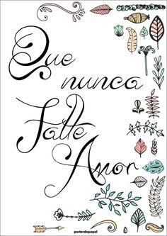 Falte Amor | Poster de Papel | Elo7