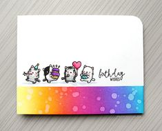 SO MANY CATS! Clean & Simple Birthday Card by Kristina Werner!