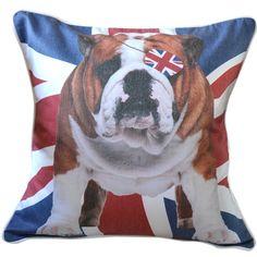 CUSHI   Union Jack Bulldog Cushion #pillow #cushion #homedecor Cushion Pillow, Union Jack, Cushions, Throw Pillows, Amazing, Home Decor, Toss Pillows, Toss Pillows, Decoration Home