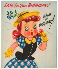 Vintage Greeting Card Girl PopUp 1940s (O315)