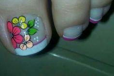Flower Nails, Pedicure, Diana, Ideas, Work Nails, Templates, Decorations, Toe Nail Art, Pretty Toe Nails