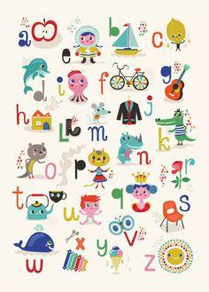new ABC poster bij Helen Dardik