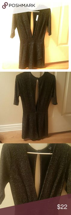 Romper Blk/GLD, LOW FRONT AND BLACK (never worn) windsor  Pants Jumpsuits & Rompers