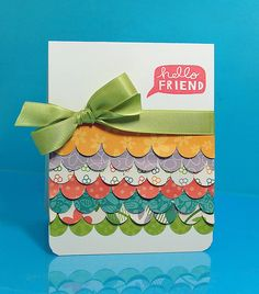Always looking for ways to use little scraps of fun patterned paper.