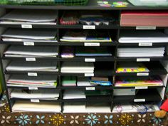Great for sorting student's works and have them ready for Thursday's folders.
