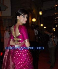 sari blouse and color