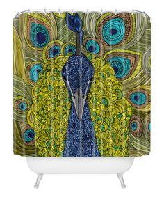 Loving this Peacock Shower Curtain on #zulily! #zulilyfinds