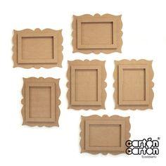 composicion marco carton                                                                                                                                                                                 Más Frame Crafts, Diy Frame, Diy Home Crafts, Fun Crafts, Cardboard Picture Frames, Marco Diy, Diy Diwali Decorations, Photo Frame Design, Diy Paper