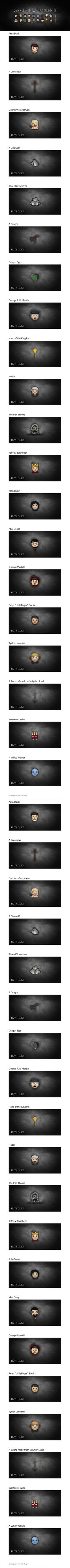 Lovely Game Of Thrones Emoji Set